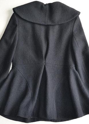 Шерстяное укороченное пальто жакет куртка осень-весна р.m-l 100%шерсть kiabi2 фото