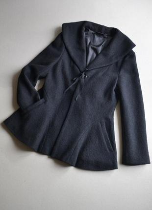 Шерстяное укороченное пальто жакет куртка осень-весна р.m-l 100%шерсть kiabi1 фото