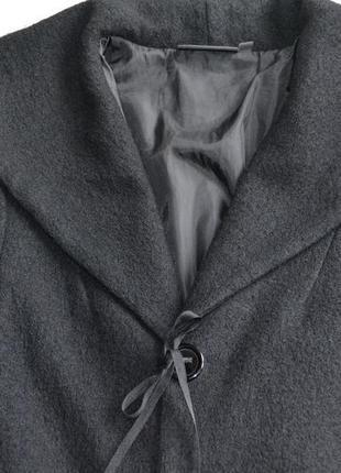 Шерстяное укороченное пальто жакет куртка осень-весна р.m-l 100%шерсть kiabi3 фото