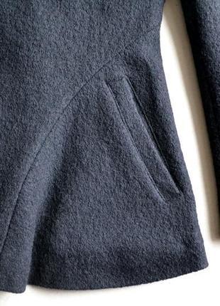 Шерстяное укороченное пальто жакет куртка осень-весна р.m-l 100%шерсть kiabi7 фото