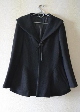 Шерстяное укороченное пальто жакет куртка осень-весна р.m-l 100%шерсть kiabi8 фото