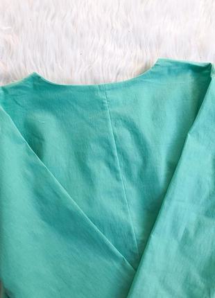 Яркое мятное платье трапеция6 фото