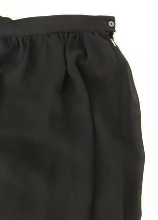 Юбка шифон чёрная италия2 фото
