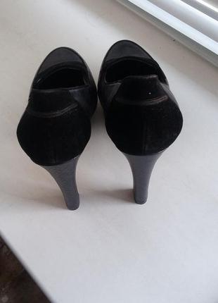Новые туфли, р. 40 кожзам с экозамшей3 фото