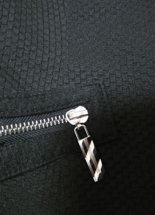 """Укороченный жакет """"рогожка""""с вышивкой на рукавах пиджак5 фото"""