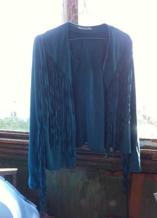 Модная куртка с бахромой kate & mallory