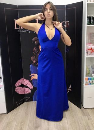 Длинное вечернее выпускное платье3 фото