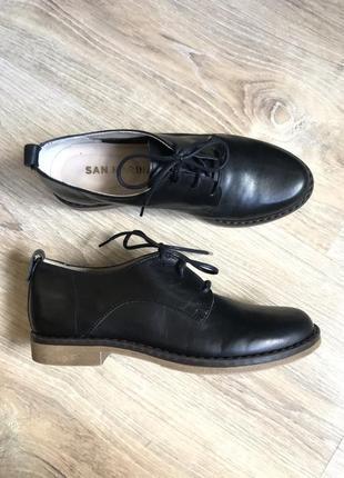 Туфли оксфоды полуботинки кожаные