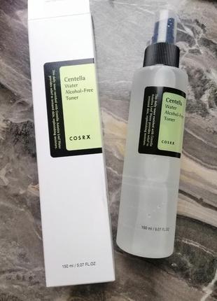 Бесспиртовой тонер с центеллой cosrx water alcohol free toner корейская косметика