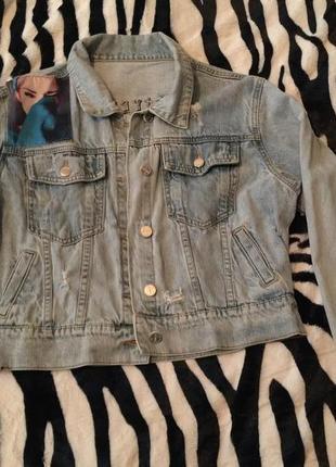 Короткая джинсовая куртка!