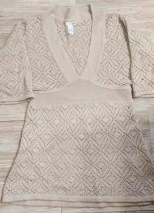 Вязаная накидка-платье