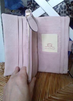 Пудровая сумочка портмоне кошелек италия эко кожа