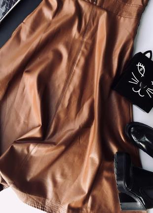 Платье-сарафан. эко кожа1 фото