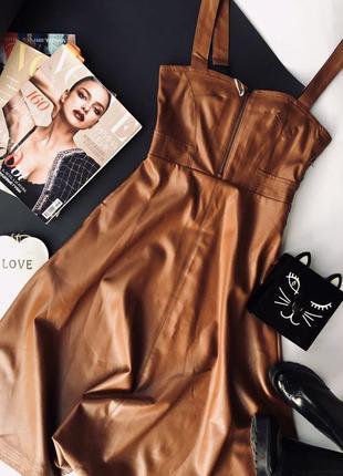 Платье-сарафан. эко кожа2 фото