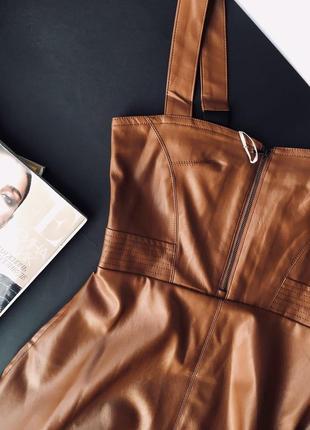 Платье-сарафан. эко кожа3 фото