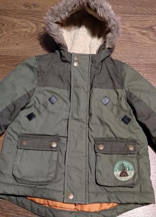 Парка курточка удлиненная утепленная