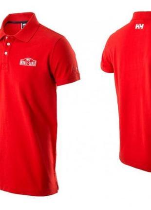 Красная мужская рубашка поло helly hansen монте-карло