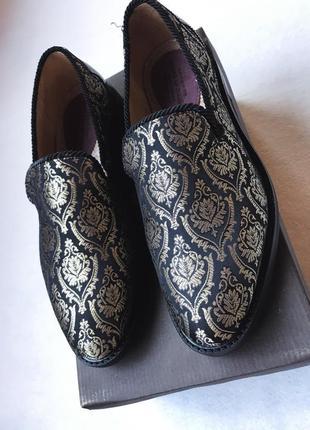 Мужские туфли позолоченные лоферы