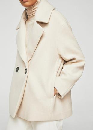 Двуборное пальто манго, l