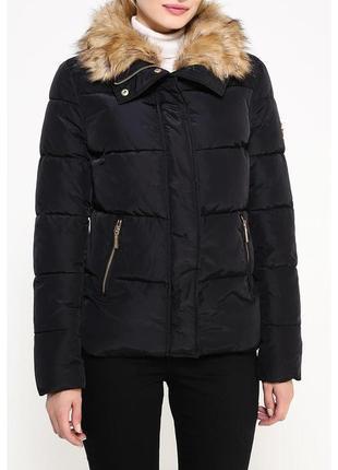 Куртка укороченная с отстегивающимся мехом oodji3 фото