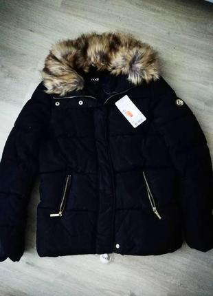 Куртка укороченная с отстегивающимся мехом oodji5 фото