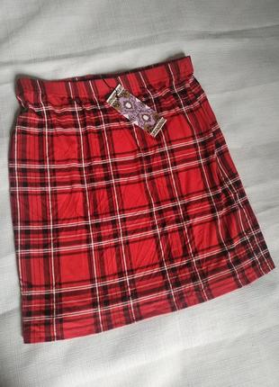 Классная яркая юбка в шотландскую клетку2 фото