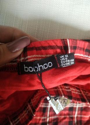 Классная яркая юбка в шотландскую клетку3 фото