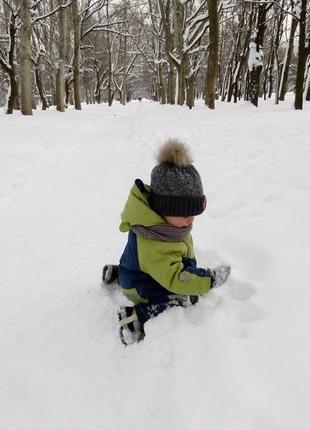 Зимний термо комбинезон на мальчика, размер 86