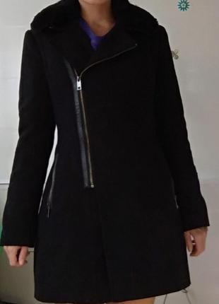 Теплое пальто, р-р s, демисезонное, деми, косуха