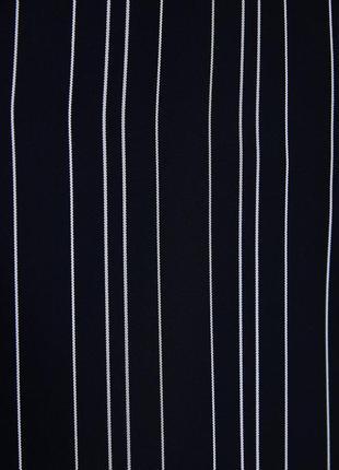 Удлиненный кардиган платье на запах в полоску от zara4 фото