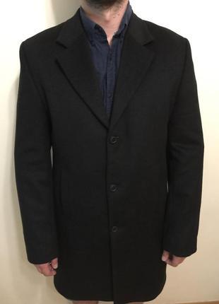 Мужское демисезонное кашемировое пальто ,carlo potti .