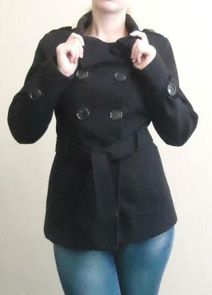 Стильное демисезонное пальто / полупальто, р-р 42-44