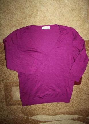 Кофта свитер пуловер малиновый цвет xs