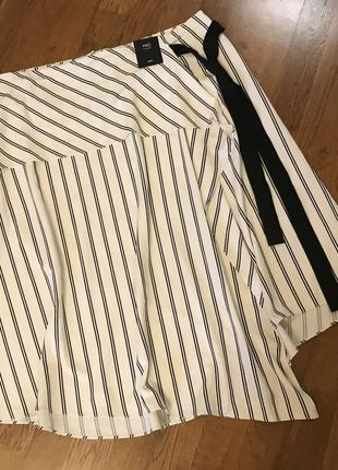 Стильная ассимитричная миди юбка m&s , p.163 фото