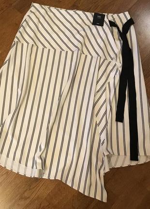 Стильная ассимитричная миди юбка m&s , p.164 фото