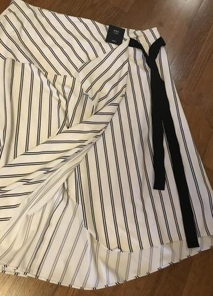 Стильная ассимитричная миди юбка m&s , p.168 фото