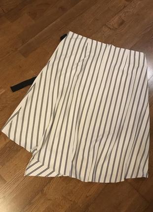 Стильная ассимитричная миди юбка m&s , p.169 фото