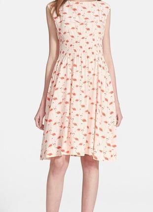 Милое розовое платье с фламинго