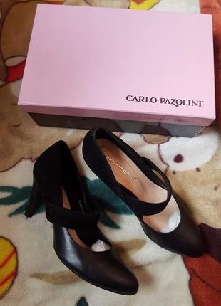Кожаные туфли carlo pazolini, 39 р