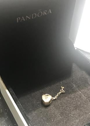 Бусина золотая,  шарм пандора оригинал!2 фото