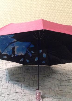 Зонт женский двухсторонний полуавтомат , система антиветер, качество!1 фото