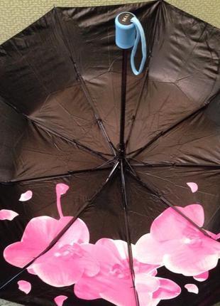 Зонт женский двухсторонний полуавтомат , система антиветер, качество!2 фото