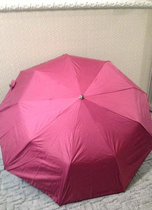 Зонт женский двухсторонний полуавтомат , система антиветер, качество!3 фото
