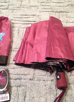 Зонт женский двухсторонний полуавтомат , система антиветер, качество!6 фото