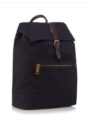 Вместительный городской унисекс кожаный рюкзак, канвас, натуральная кожа, спинка уплотнена