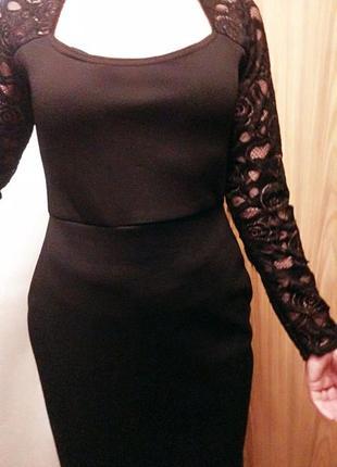 Misslook платье-футляр с кружевными рукавами р.46-481 фото