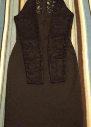 Misslook платье-футляр с кружевными рукавами р.46-482 фото