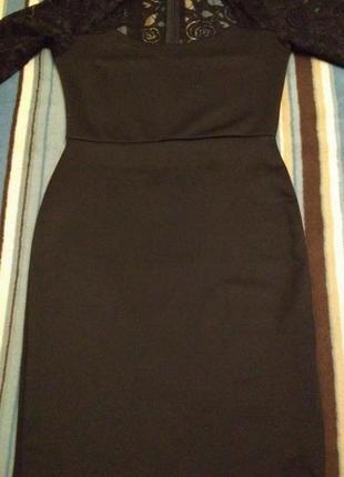Misslook платье-футляр с кружевными рукавами р.46-485 фото