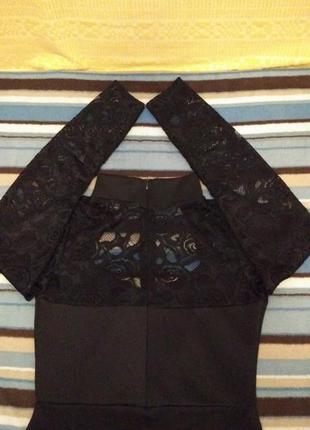Misslook платье-футляр с кружевными рукавами р.46-486 фото