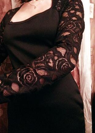 Misslook платье-футляр с кружевными рукавами р.46-487 фото